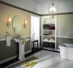 lighting freestanding bathtub and towel storage with bathroom