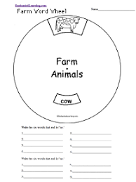 spelling worksheets farm and farm animals at enchantedlearning com