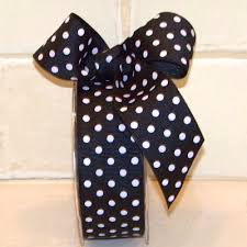 black and white polka dot ribbon ribbon polka dot package craft hair bow cake plate wedding ribbons