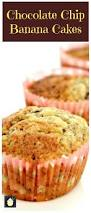 chocolate chip and banana cakes lovefoodies