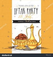 Diwali Invitation Cards For Party Creative Invitation Card Dates Muslim Community Stock Vector