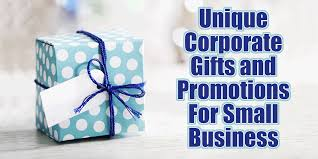 unique corporate gifts and promotional products for small business