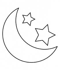 moon black white stars moon clipart cliparts art