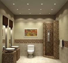 bathroom simple white ceiling recessed lights with modern