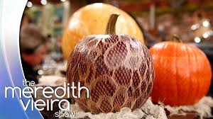 martha stewart u0027s diy halloween the meredith vieira show youtube