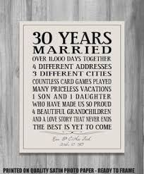 35th wedding anniversary gifts 5th anniversary gift print wood 5 years 10 15 20 25 custom years
