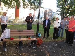 former classmates dedicate bench in bayonne park to deceased