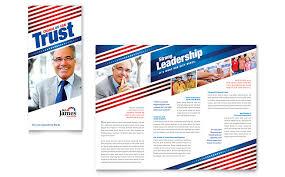 political campaign tri fold brochure template word u0026 publisher