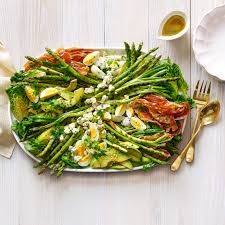 asparagus thanksgiving grilled asparagus and prosciutto cobb salad recipe myrecipes