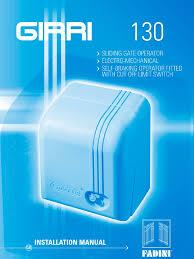 girri 130 installation manual switch gear