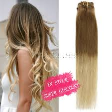 light ash blonde clip in hair extensions 6a grade blonde brazilian straight ombre clip in human hair