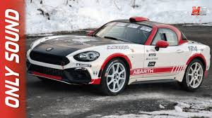 2017 fiat 124 spider abarth new fiat abarth 124 spider rally 2017 on board only sound video