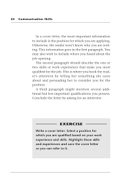 cover letter communication skills communication skills