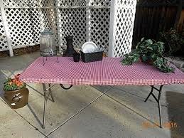 stay put table covers amazon com custom fitted stay put table cover picnic tablecloth for