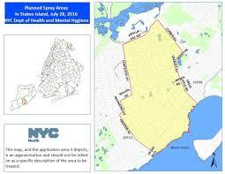 Map Staten Island Health Department To Spray For Mosquitos In Queens Staten Island