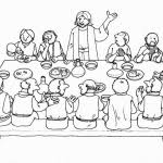 Last Supper Coloring Pages Metello Last Supper Coloring Page
