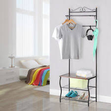 Entryway Storage Bench With Coat Rack Entryway Bench Coat Rack Ebay
