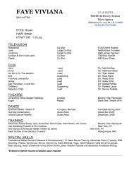 Ballet Resume Resume