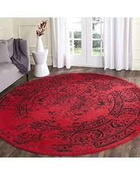 Black Round Rug Don U0027t Miss This Bargain Safavieh Adirondack Collection Adr101f