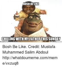 What Meme - bosh be like chilling with my father this sunday what meme com