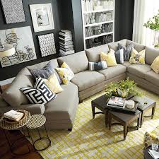 furniture ethan allen sectional sofas with round side table also