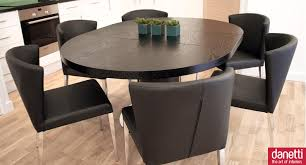 dining room expandable dining table set in dark brown for dining