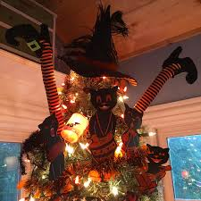 decorated halloween trees musings from kim k my 2016 halloween tree reveal