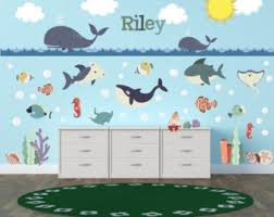 Kids Room Wall Decor Stickers by Ocean Wall Decal Etsy