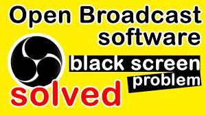 obs black screen problem