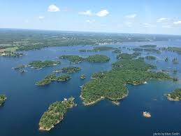 a birds eye view of the 1000 islands inspired by commander hadfield