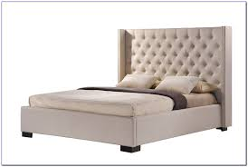 tufted wingback bed with footboard bedroom home design ideas