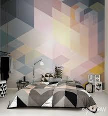 geometric wall mural from myloview wallpaper wall bedroom