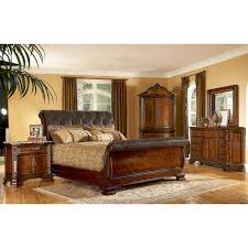 King Size Leather Sleigh Bed King Size Sleigh Bedroom Sets Ohio Trm Furniture