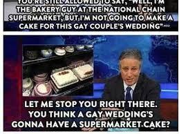 sorry jon stewart some couples do get their wedding cakes at