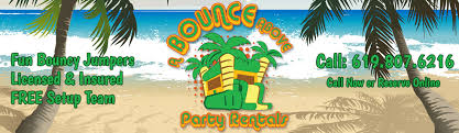 party rentals san diego a bounce above party for san diego bounce house rentals