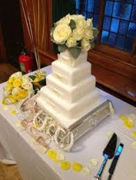 four tier ivory square wedding cake by marks and spencers fresh