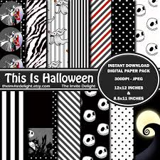 nightmare before christmas digital paper pack this is