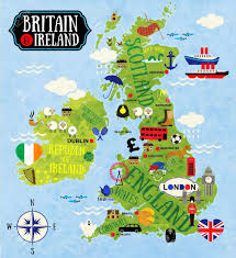 Britain Map Cartoon Maps Of Britain And Ireland For Child Royalty Free
