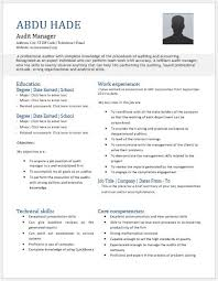 Resume Template Odt Audit Manager Resume Contents Layouts U0026 Templates Resume Templates