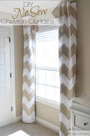 White Chevron Curtains Diy No Sew Chevron Curtains Chevron Curtains Babies And