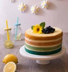 recette de cuisine cake ombre cake citron coco layer cake en dégradé les meilleures