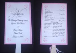 fan ceremony programs brides helping brides ceremony program fan liweddings