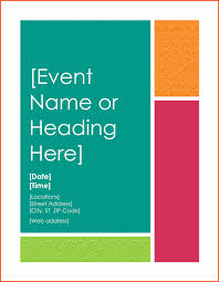 7 event flyer templates bookletemplate org
