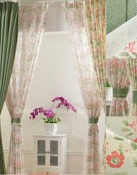 Home Decorators Curtains Beige Flowers Country Style Eco Friendly Curtains Window
