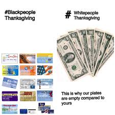 thanksgiving report black vs white peoples thanksgiving funny