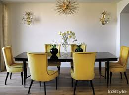 Yellow Dining Chair Yellow Dining Chairs Transitional Dining Room Instyle Magazine