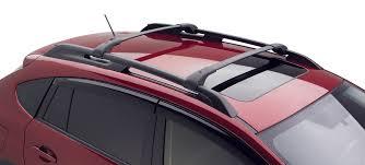 subaru trek red xv crosstrek aero roof cross bar kit 2013 car stuff pinterest
