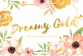 gold flowers dreamy gold flower clipart illustrations creative market