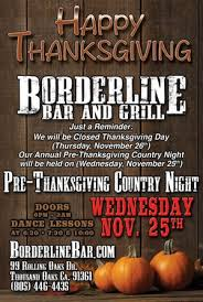 borderline bar and grill pre thanksgiving country