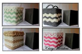 Baby Storage Baskets Crochet Basket Pattern Square Basket Pattern Drop Over Lace